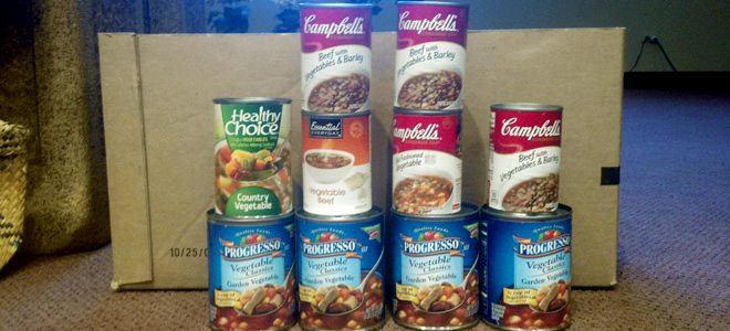 Cross of glory is collecting vegetable soup and stew for for Fish food pantry