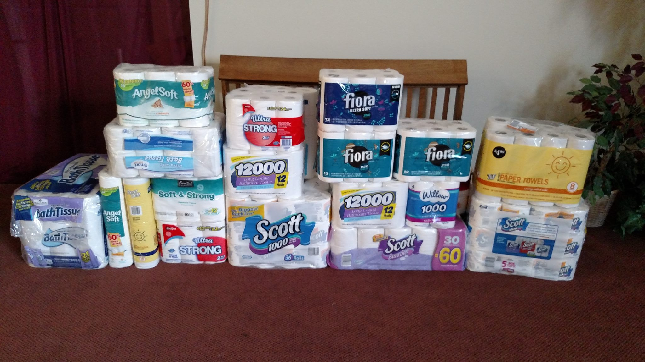 924 rolls of toilet paper collected for fish food pantry for Fish food pantry