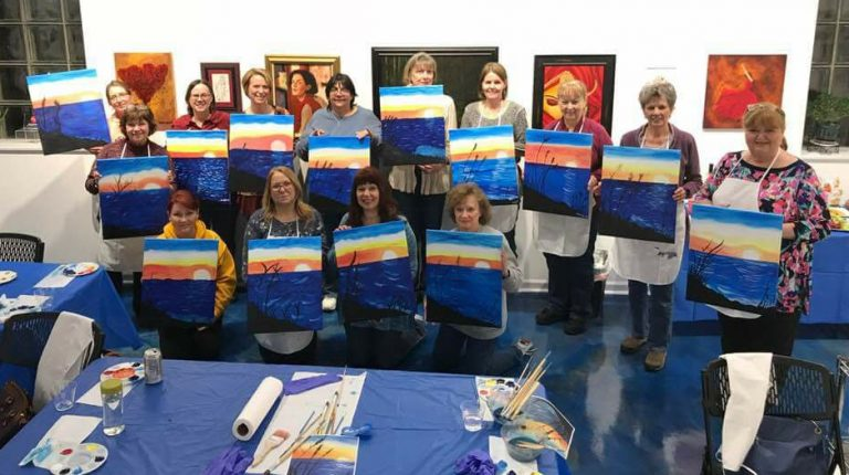 Women's Group: Paint Night at Flower of Life Art Gallery