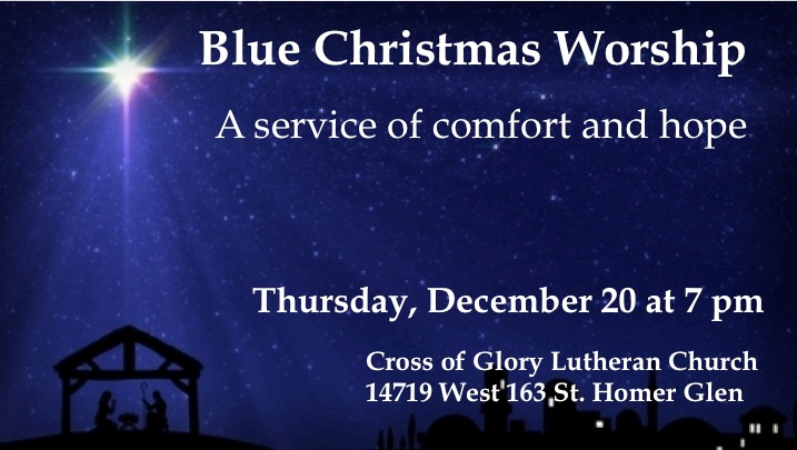 2018 Blue Christmas Service – Thursday, December 20th at 7:00 pm