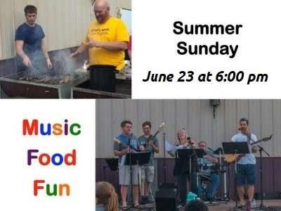 Summer Sunday – 6/23 @ 6:00 pm