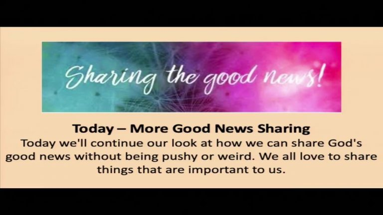 October 17, 2021 – More Good News Sharing (Sermon Only)